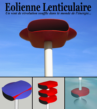 Eolienne lenticulaire ultra puissante